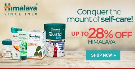Up to 28% off on Himalaya products