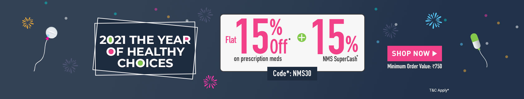 Get up to 30% discount on medicines online
