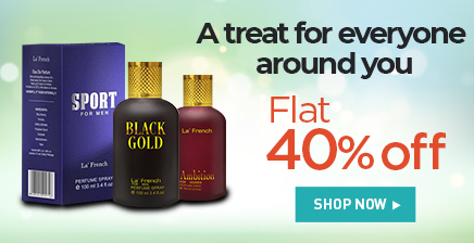 Flat 40% off on La'french products
