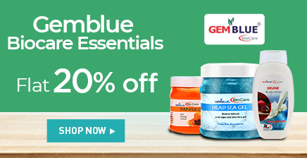 Flat 20% off on Gemblue Biocare products