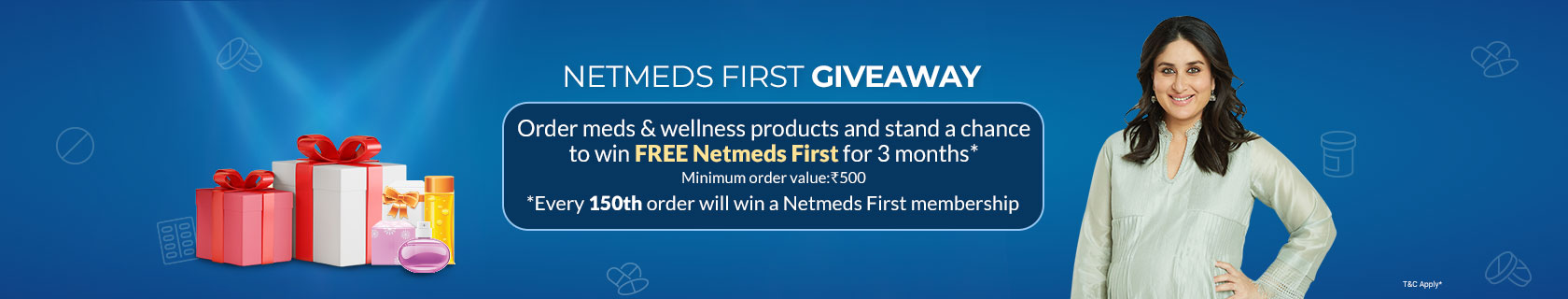 Chance to Win Netmeds First membership for FREE