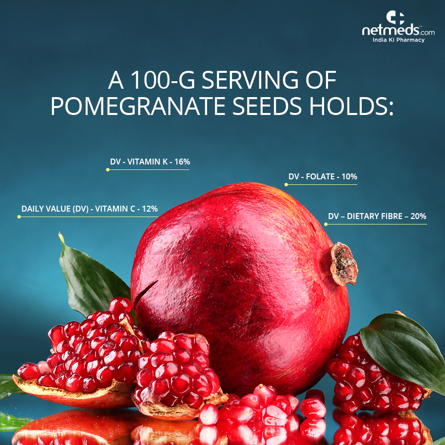 Benefits, Nutrition Value, and Anti-Aging Properties of Pomegranate