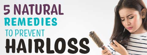 5 Easy Home Remedies To Control Hair Loss - Infographic