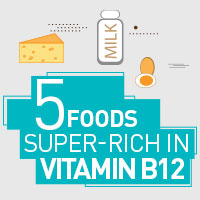 5 Foods Plentiful In Vitamin B12 That Guarantee Overall Health - Infographic