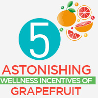 Grapefruit: 5 Fantastic Health Reasons Of Adding This Juicy Citrus Fruit To The Diet-Infographic