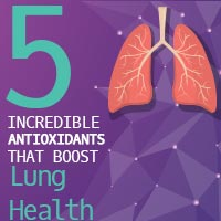 Lung Health: 5 Powerful Antioxidant Rich Foods That Help You Breathe Well - Infographic