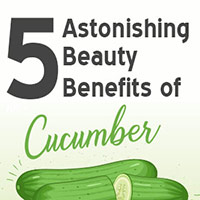 5 Splendid Ways To Use Cucumber In Your Beauty Care Regimen-Infographic