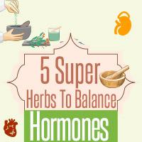 Women's Health: 5 Powerful Herbs To Beat Hormonal Imbalance Naturally - Infographic