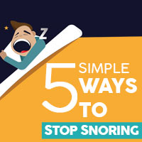 5 Easy Fixes To Stop Snoring -Infographics