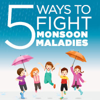 5 Natural Remedies To Beat Monsoon Ailments - Infographic