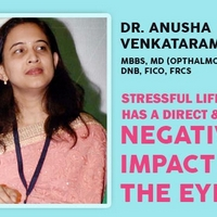 Stressful lifestyle has a direct & negative impact on the eyes