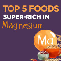 5 Foods Abundant In Magnesium That Are Incredibly Healthy - Infographic