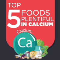 5 Foods That Are Incredibly Rich In Calcium: Infographic