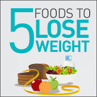 Top 5 Super Foods To Achieve Weight Loss - Infographic