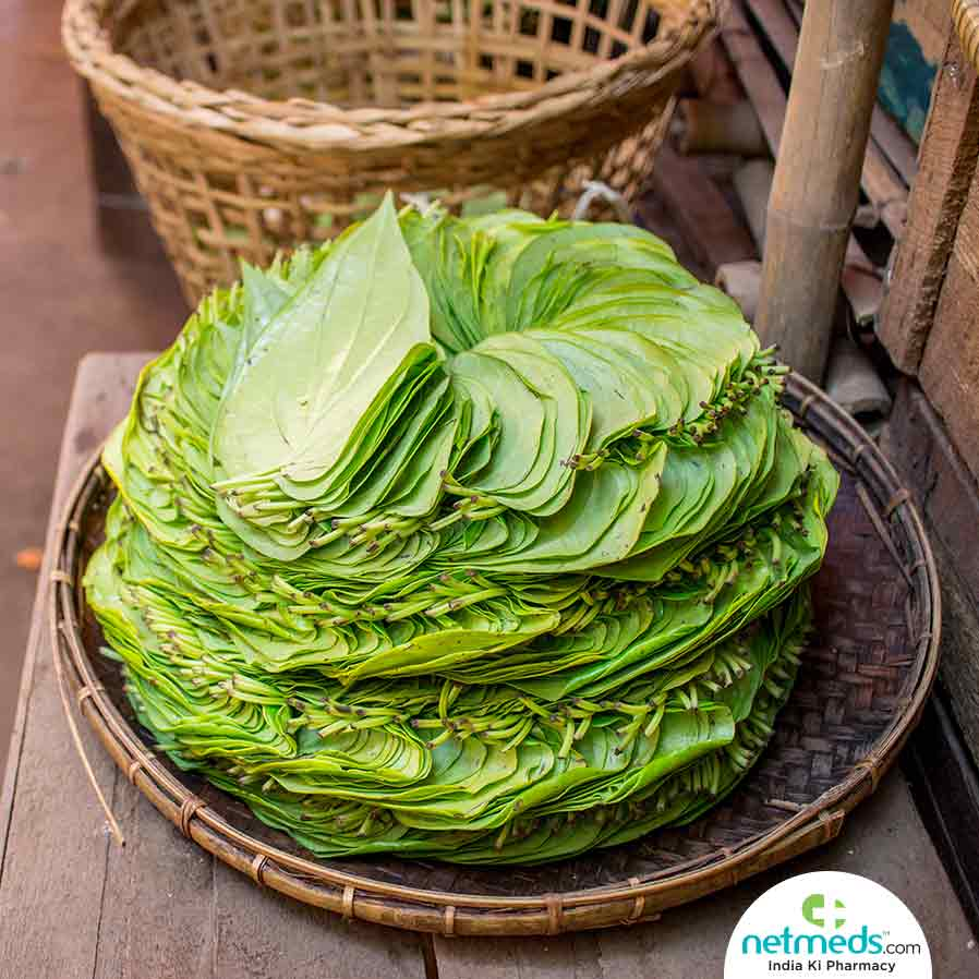 Betel Leaves in a tray