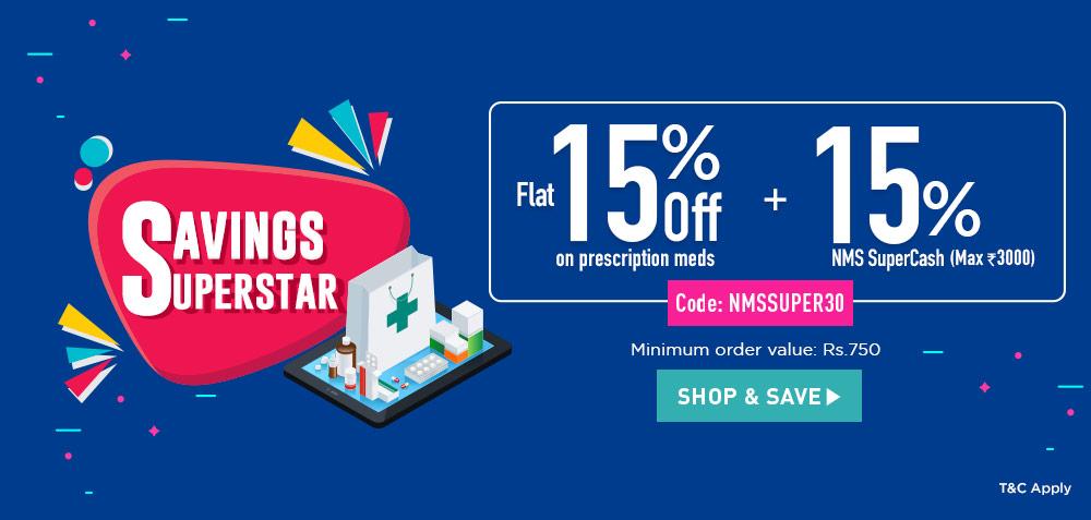 Buy medicine online at up to 30% off