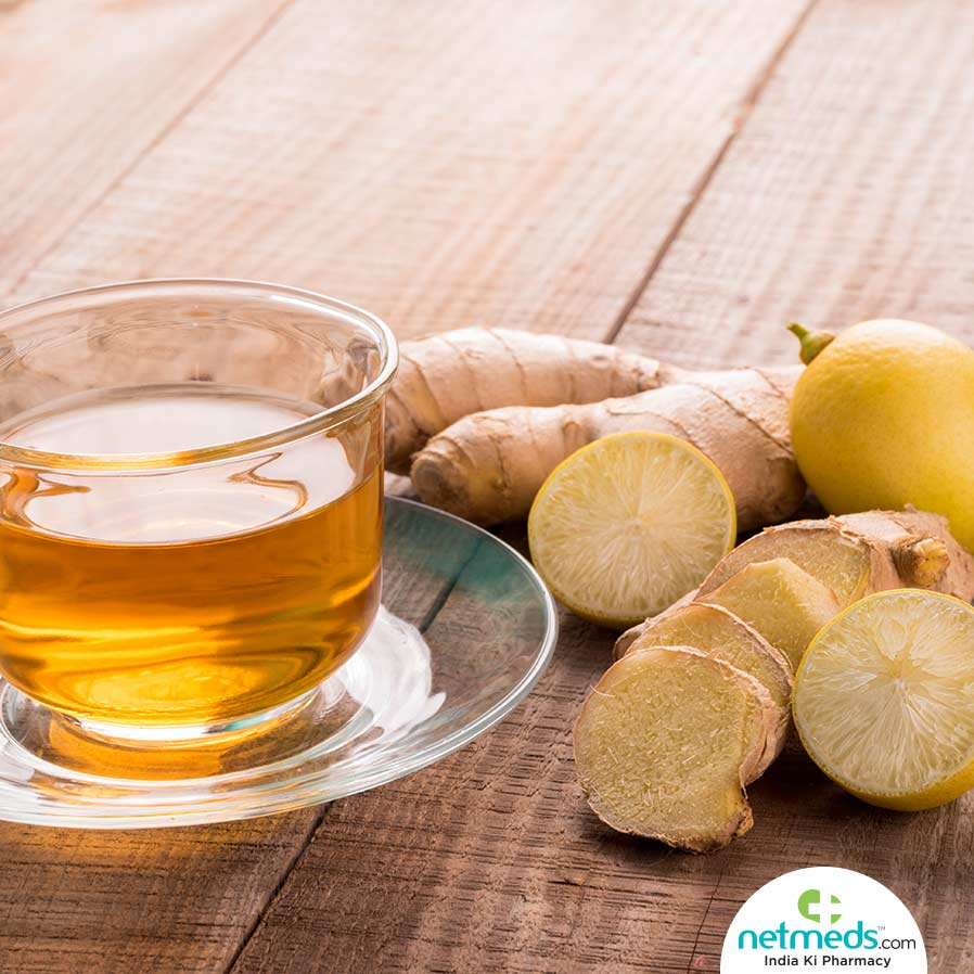 Ginger tea for stomach health