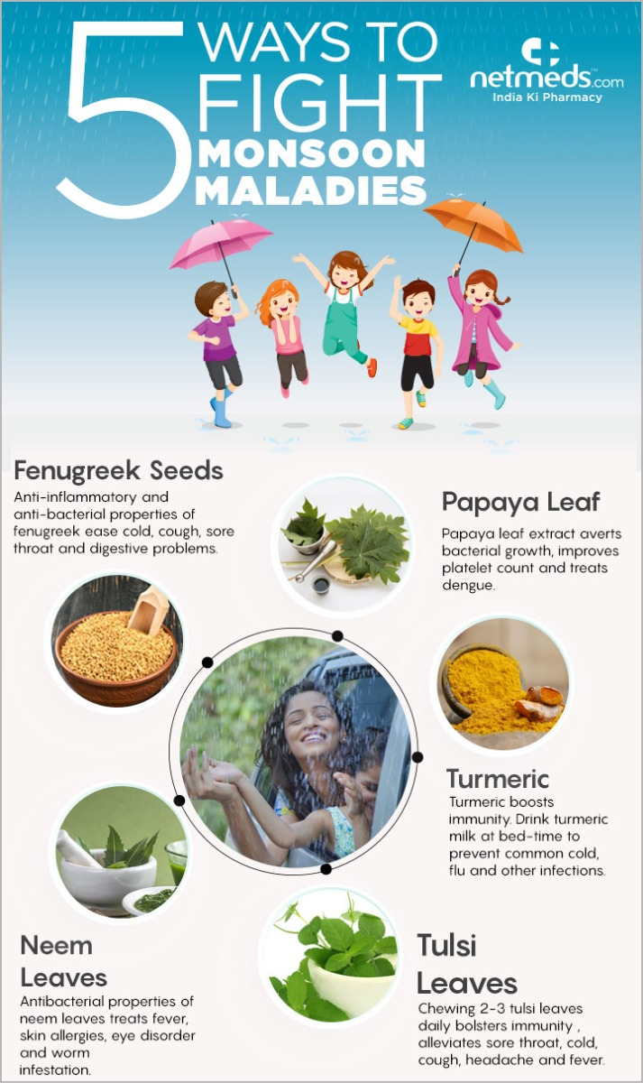 natural remedies to beat monsoon illness