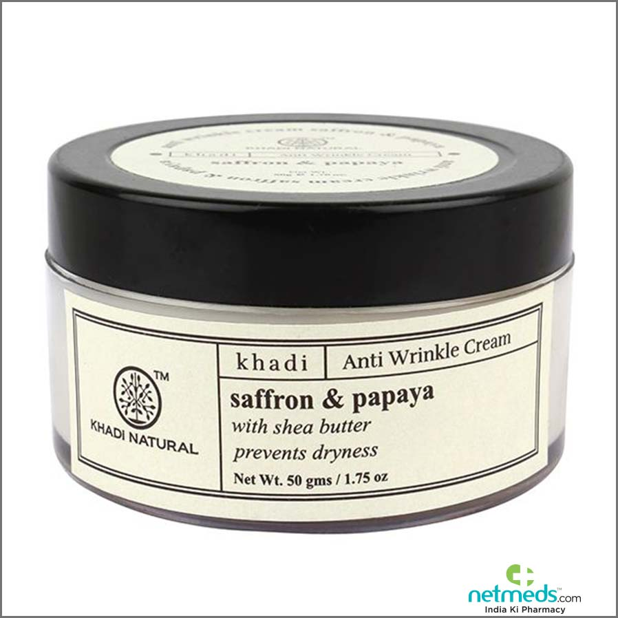 Benefits of Khadi Natural Anti Wrinkle Cream - Saffron & Papaya 50 gm