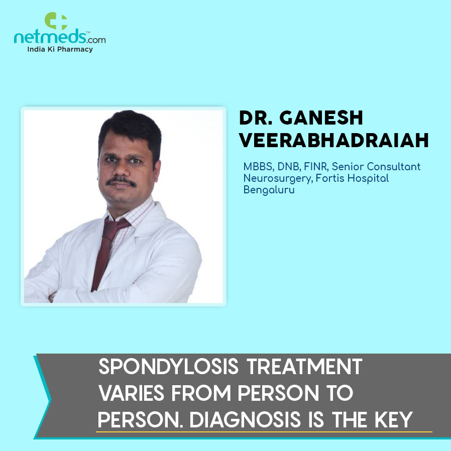Dr. ganesh speaks about spondylosis