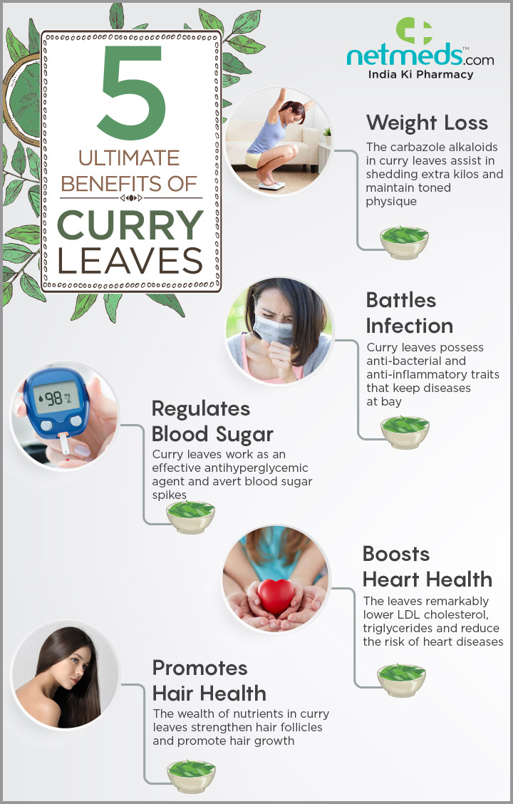 curry leaves infographic