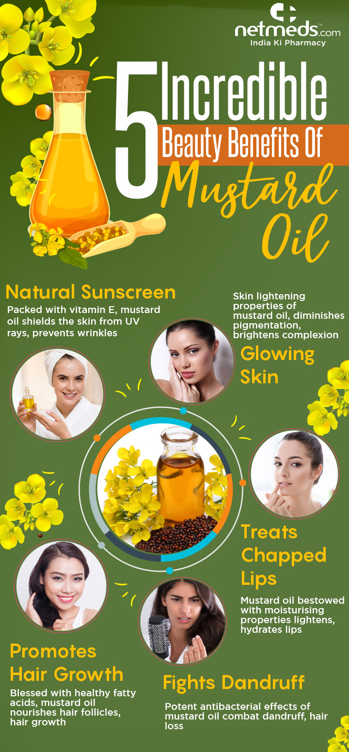 Mustard oil for beauty care regimen-infographic