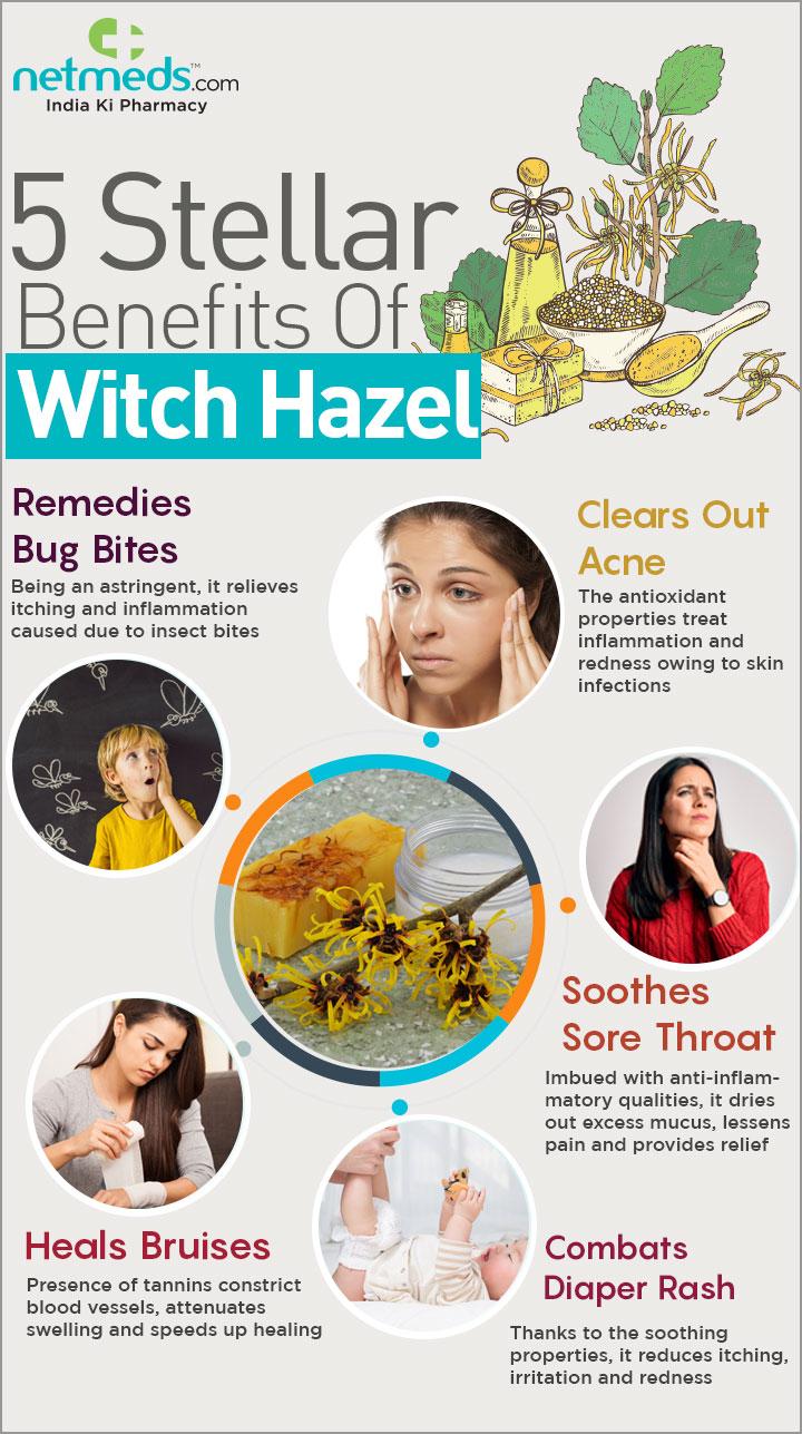 5 steller benefits of witch hazel