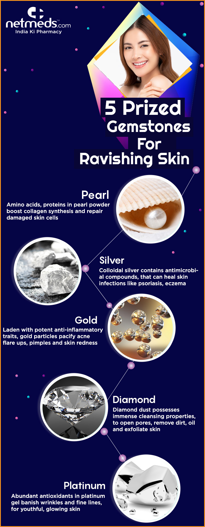 5 Precious Metals That Will Grant Spotless Sparkling Skin