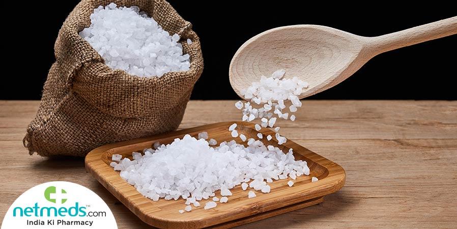 salt in sac, taking salt with a spoon