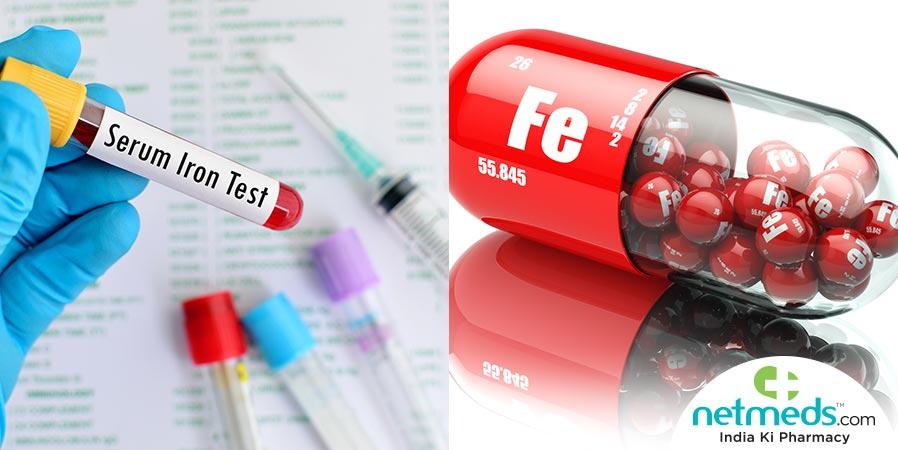 Serum iron test and serum tablet