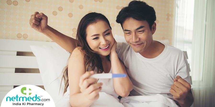 couple doing pregnancy test