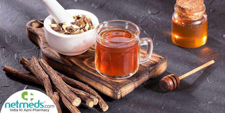 Liquorice root tea
