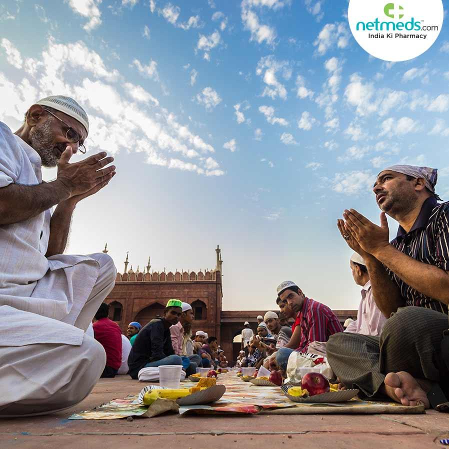 Muslims offering prayer