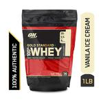 Optimum Nutrition (ON) 100% Whey Gold Standard Powder - Vanilla Ice Cream 1 lb