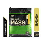 Optimum Nutrition (ON) Serious Mass Powder - Banana Flavour 12 lb