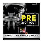 HealthVit Fitness Advanced Formula Pre-Workout Powder - Watermelon Tequila Flavour 300 gm