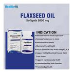 HealthVit Flaxseed Oil 1000 mg Softgel 60's