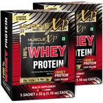 MuscleXP 100% Whey Protein Powder - Cafe Mocha Flavour (Pack of 10 x 33 gm)