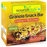 NourishVitals Granola Snack Bar - Cranberry & Black Currant (5 Bars) 250 gm