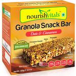 NourishVitals Granola Snack Bar - Date & Cinnamon (5 Bars) 250 gm