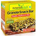 NourishVitals Granola Snack Bar - Pumpkin Sunflower & Flax Mix (5 Bars) 250 gm