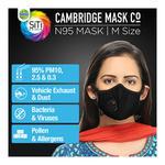 Dettol Cambridge Basic N95 Anti-Pollution Mask - Black (M)