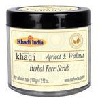 Khadi Leafveda Herbal Face Scrub - Apricot & Walnut 100 gm