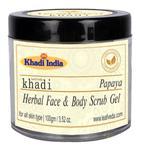 Khadi Leafveda Herbal Face & Body Scrub Gel - Papaya 100 gm