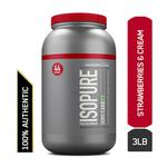 Isopure Zero Carb 100% Whey Protein Isolate Powder - Strawberries & Cream 3 lb