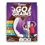 Manna Go Grains Multigrain Instant Drink Mix For Kids Chocolate Flavour 400 gm