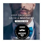 The Real Man Mustache Wax 50 gm