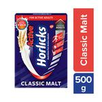 Horlicks Active Powder - Classic Malt Flavour 500 gm (Refill Pack)
