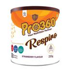 Pro360 Respiro Nutritional Beverage Mix Powder - Strawberry Flavour 250 gm