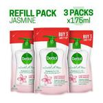 Dettol Co-Created with Moms Liquid Hand Wash Refill - Jasmine (Pack of 3 x 175 ml)